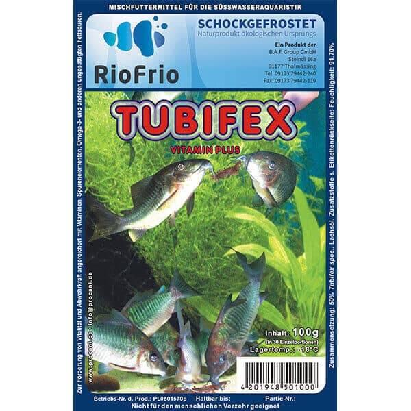 RioFrio natürliches Frostfutter für Aquaristik - Tubifex Vitamin Plus