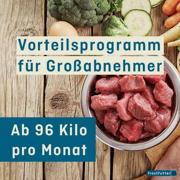 FrostFutter Vorteilsprogramm für BARF Großabnehmer ab 96 Kilo pro Monat