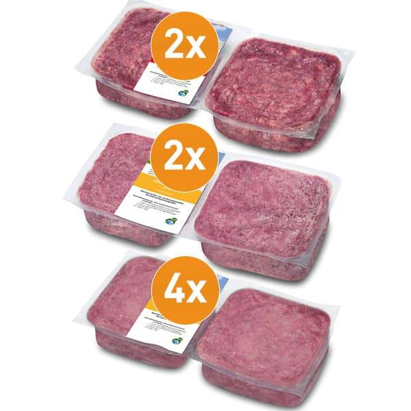FrostFutter BARF Vorteilspaket mit magerem Frostfleisch während einer Diät