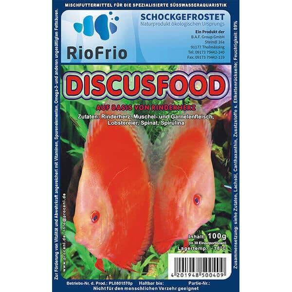 RioFrio natürliches Frostfutter für Aquaristik - Discus Menü