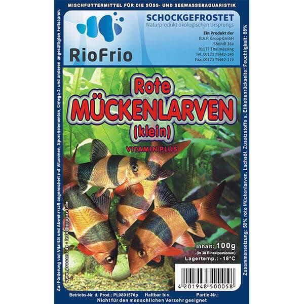 RioFrio natürliches Frostfutter für Aquaristik - Rote Mückenlarve Vitamin Plus