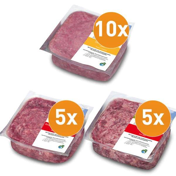 Frostfutter Fett-Weg-Paket ideal als BARF Dätfutter für Hunde während des Abnehmens