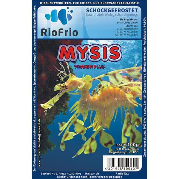 RioFrio natürliches Frostfutter für Aquaristik - Mysis Vitamin Plus