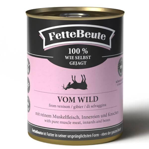 FetteBeute Nassfutter vom Wild - BARF 100% wie selbst gejagt für Hunde
