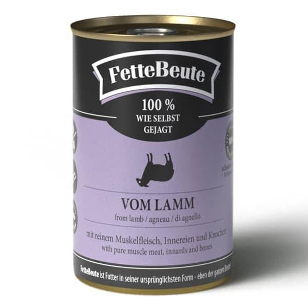 FrostFutter BARF Shop - FetteBeute Nassfutter für Hunde - 400g Dose