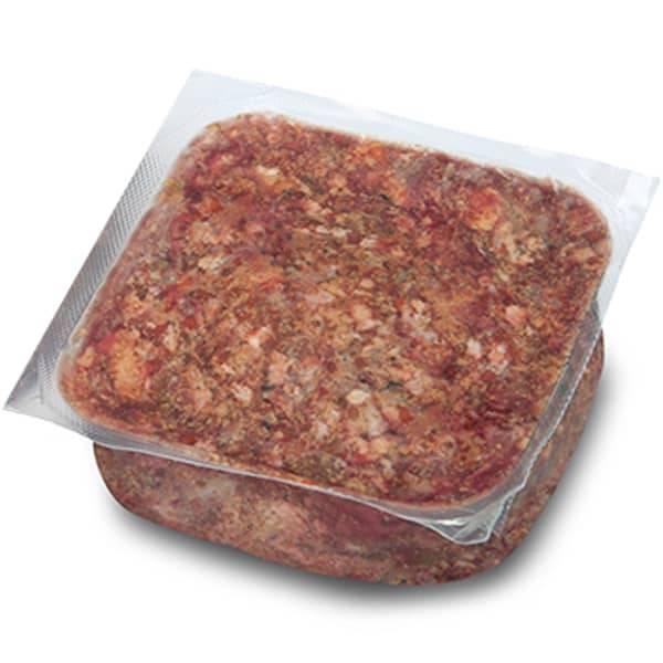 BARF Frostfleisch für Hunde - Rind Select mit Innereien sowie Obst und Gemüse
