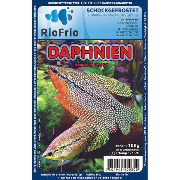 RioFrio natürliches Frostfutter für Aquaristik - Daphina Vitamin Plus