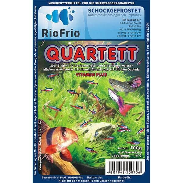 RioFrio natürliches Frostfutter für Aquaristik - Quartett Vitamin Plus