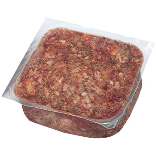 BARF Frostfleisch für Hunde - Power Mix vom Rind mit Pansen und Leber