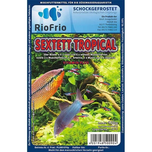 RioFrio natürliches Frostfutter für Aquaristik - Sextett Tropical